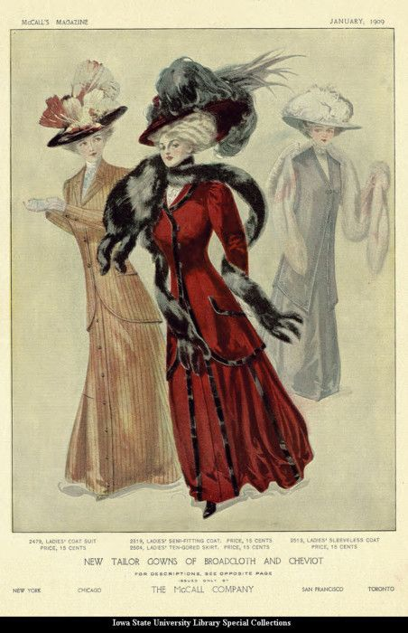 January 1909 Coat Suits ~ The McCall Company
