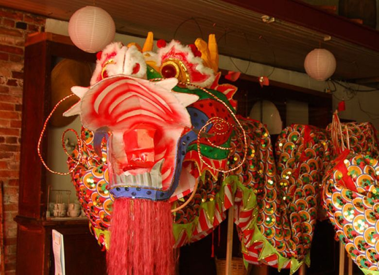 This Chinese New Year dragon is one of many pieces of