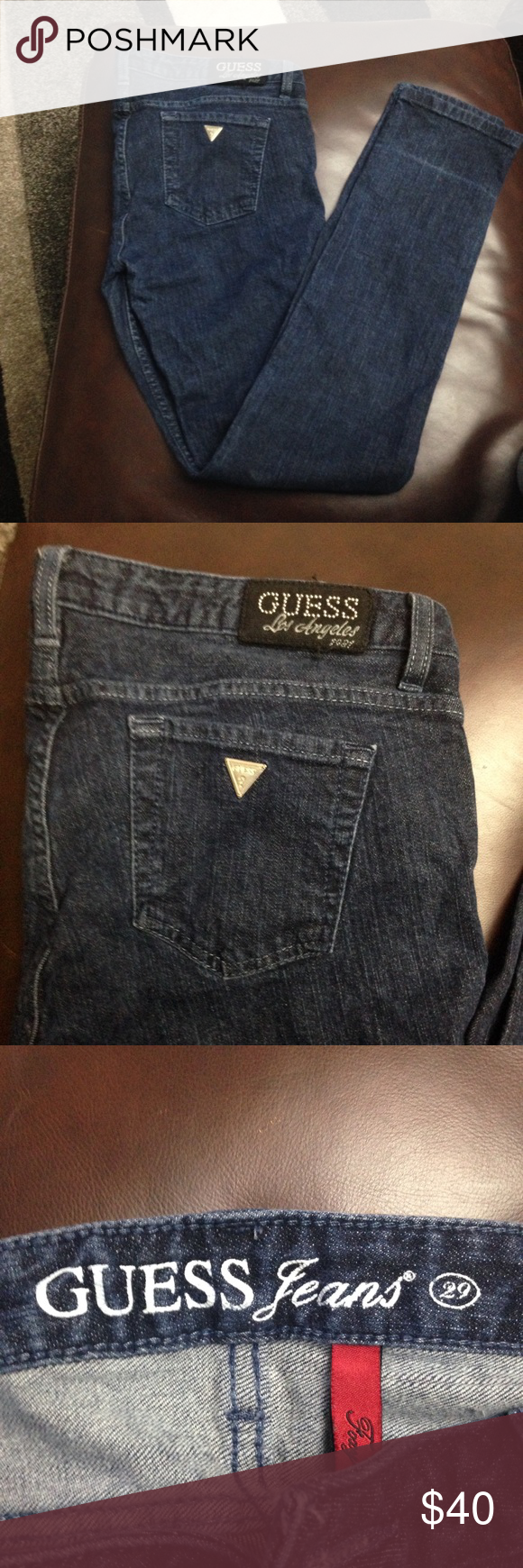 Guess jeans Gently used straight leg guess jeans size 29 Guess Jeans Straight Leg