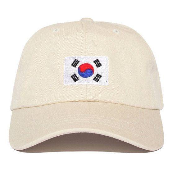 South Korea Flag ASSC Anti Social Social Club Inspired Embroidered Baseball  Cap Baseball Hat 19fa9a8902ac