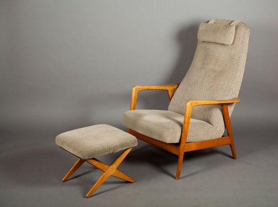 1960 S Mid Century Danish Modern High Back Folke Ohlsson For Dux Lounge Chair Ottoman Http Studiovintagev Mid Century Modern Chair Chair Chair And Ottoman