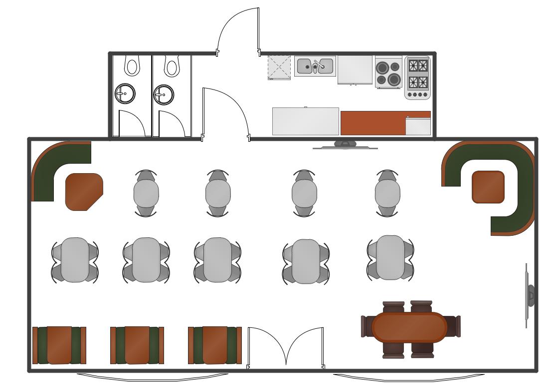 Café floor plan example Diseño de tienda, Disenos de