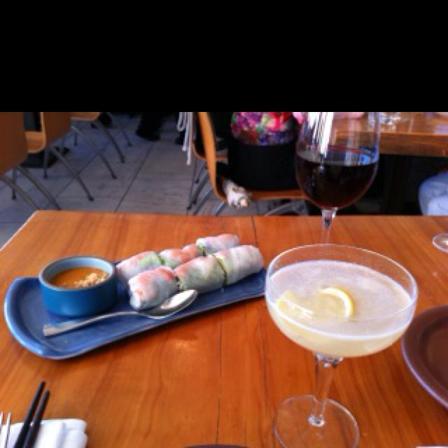 Summer rolls and lychee martini at the Slanted Door in San Francisco. One of our fav restaurants. Right in the Ferry Bldg. #lycheemartini Summer rolls and lychee martini at the Slanted Door in San Francisco. One of our fav restaurants. Right in the Ferry Bldg. #lycheemartini