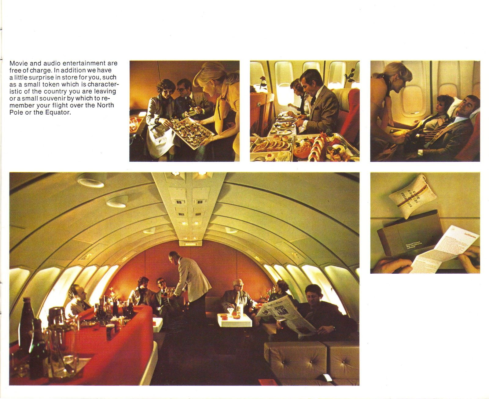 Lufthansa Boeing 747 Upper Deck First Class Senator Lounge