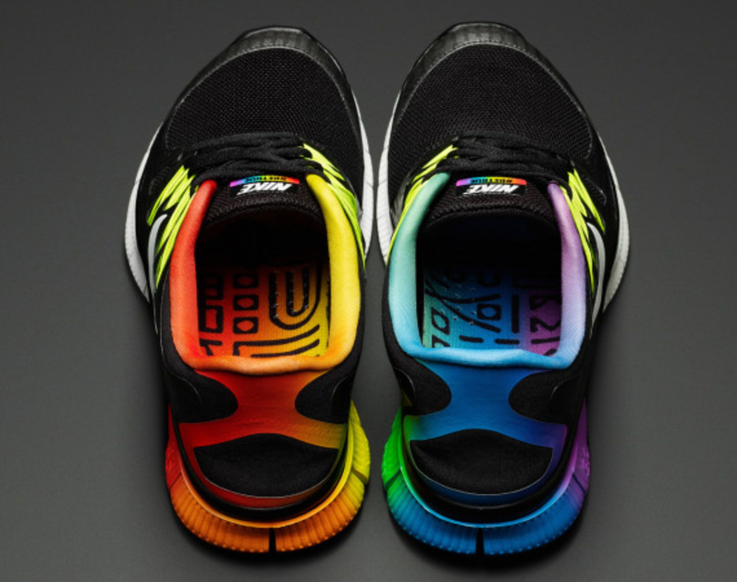 """Not just a celebration of diversity, but the power of sports in bring everyone together, Nike officially launches its #BETRUE Collection in support of the LGBT community. Composed of Nike Solarsoft #BETRUE Thong Sandal for Men, Nike #BETRUE graphic tees and tanks, along with Nike #BETRUE iPhone 5 Case, all emblazoned with the rainbow spectrum, a homage to LGBT's """"Freedom Flag"""" for pride and diversity. In the same alternating colors of the rainbow, the #BETRUE Collection also i..."""