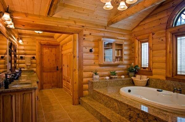 bathroom log home photos Interiors  Exteriors Pinterest Home