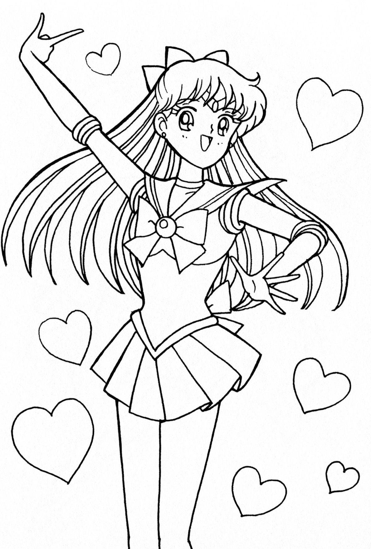 Sailor Venus Coloring Pages Sailor Moon Coloring Pages Cute Coloring Pages Sailor Venus