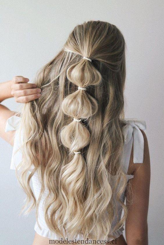 tresse bulle / pinterest | coiffure facile, coiffures de