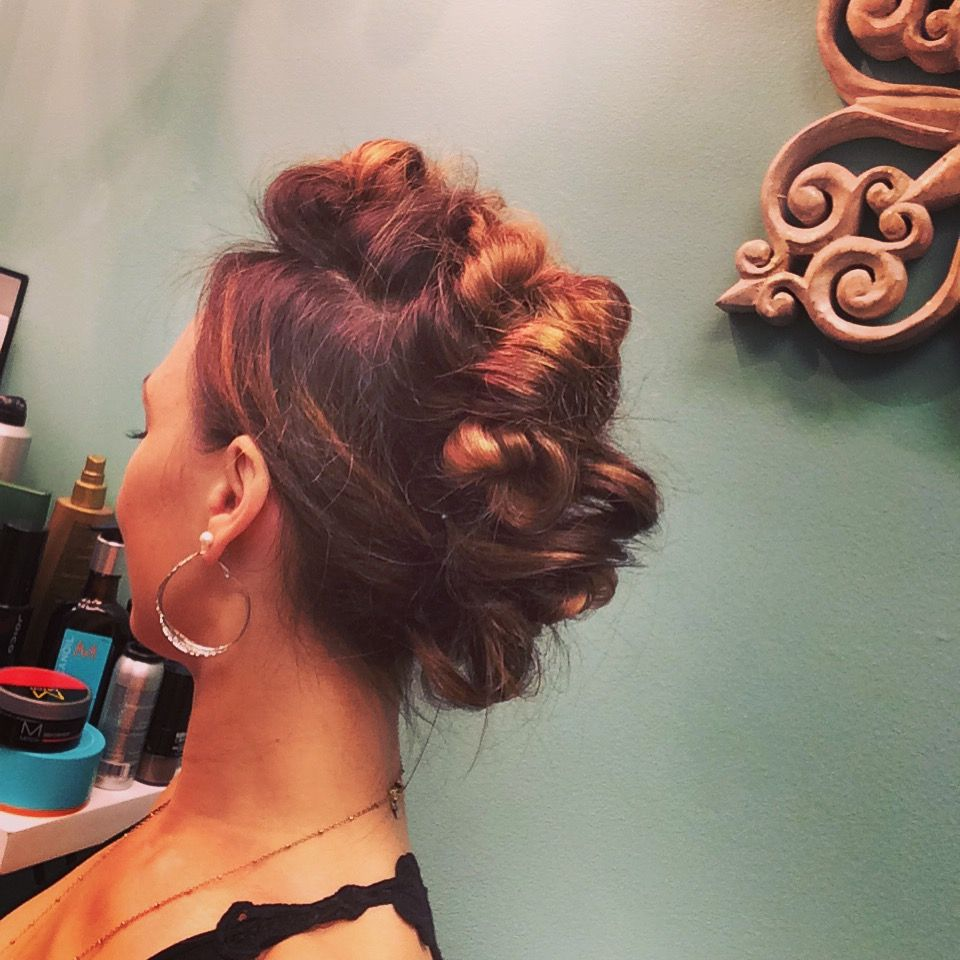 Edgy Bouffant/Mohawk Hair done by Kristine OzolaWeatherby