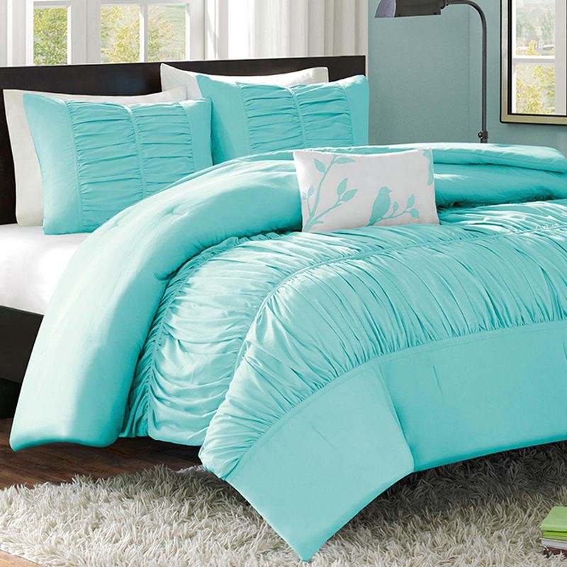 Mizone Mirimar Twin XL Comforter Set Blue | Twin xl, Student ... : turquoise twin quilt - Adamdwight.com