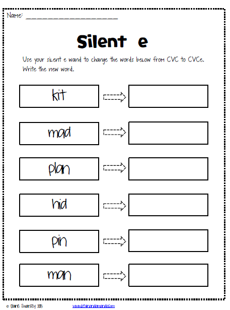 Worksheet Silent E Worksheets 4th Grade simple posters in blue colour way with a rhyme describing magic freebie worksheets life first silent e sneaky e