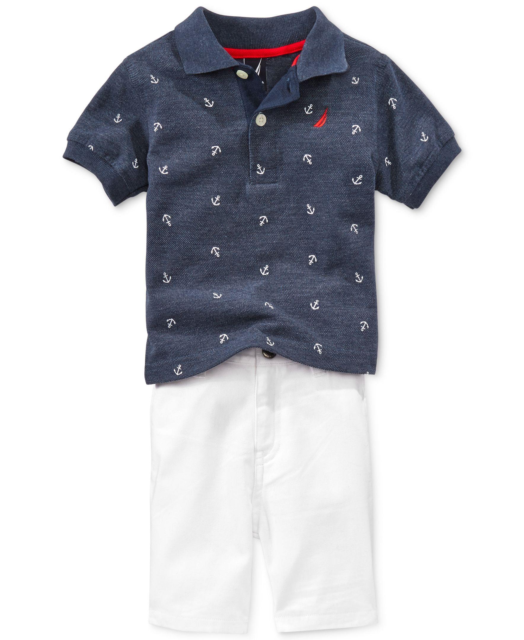 Nautica Baby Boys' 2-Piece Polo & Shorts Set