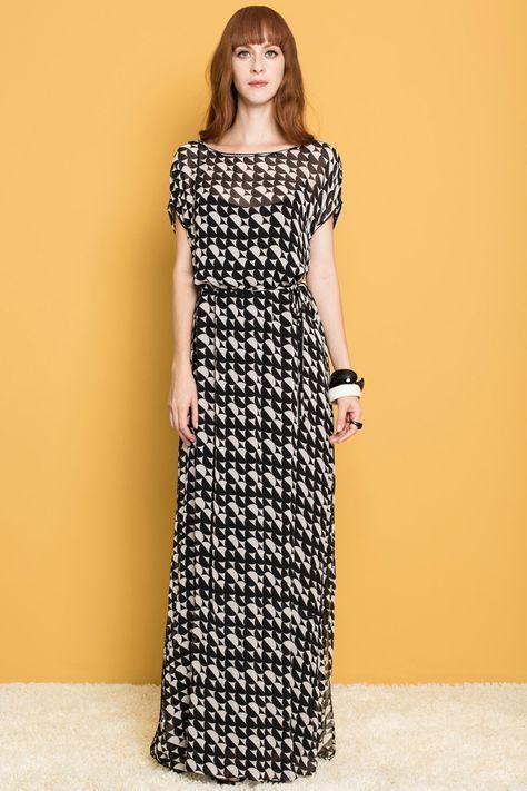 Sublime Fashion BabadotopWomen's Vestido Totem Longo uFJTlKc31