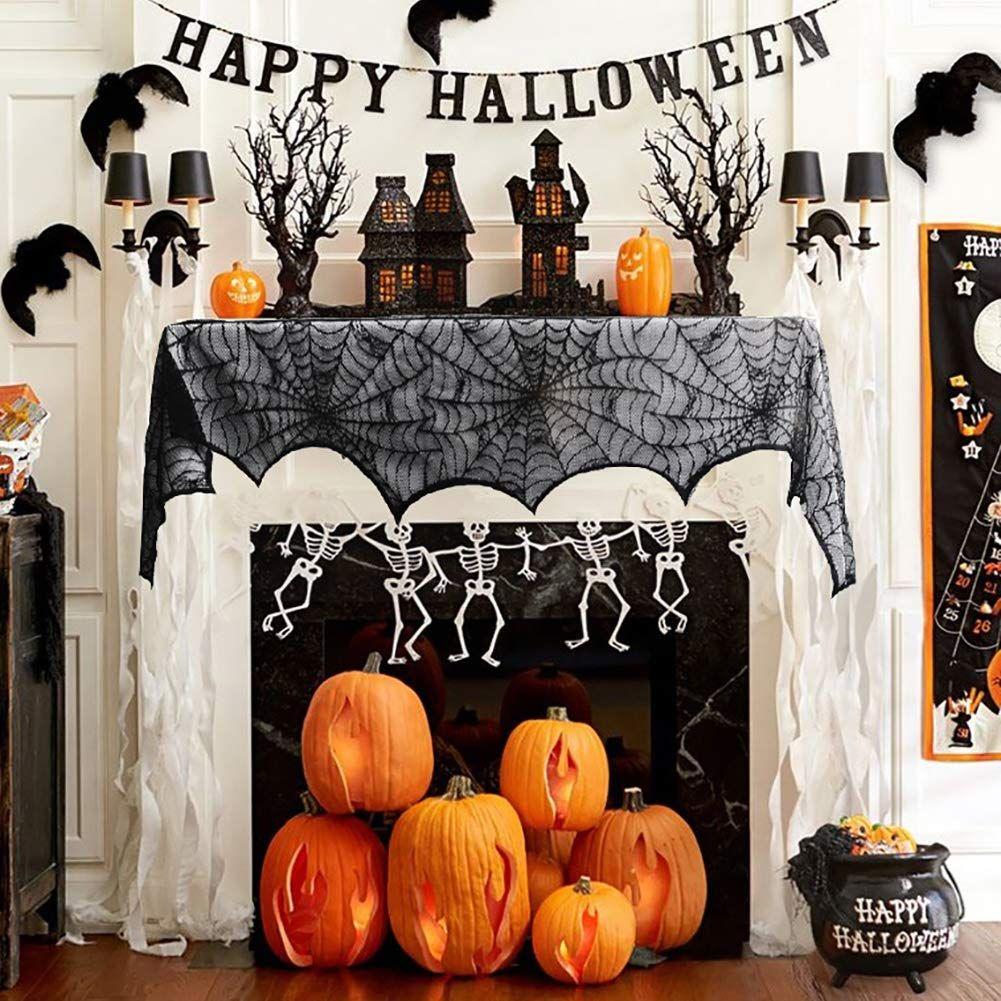 25++ Halloween fireplace mantel scarf ideas in 2021