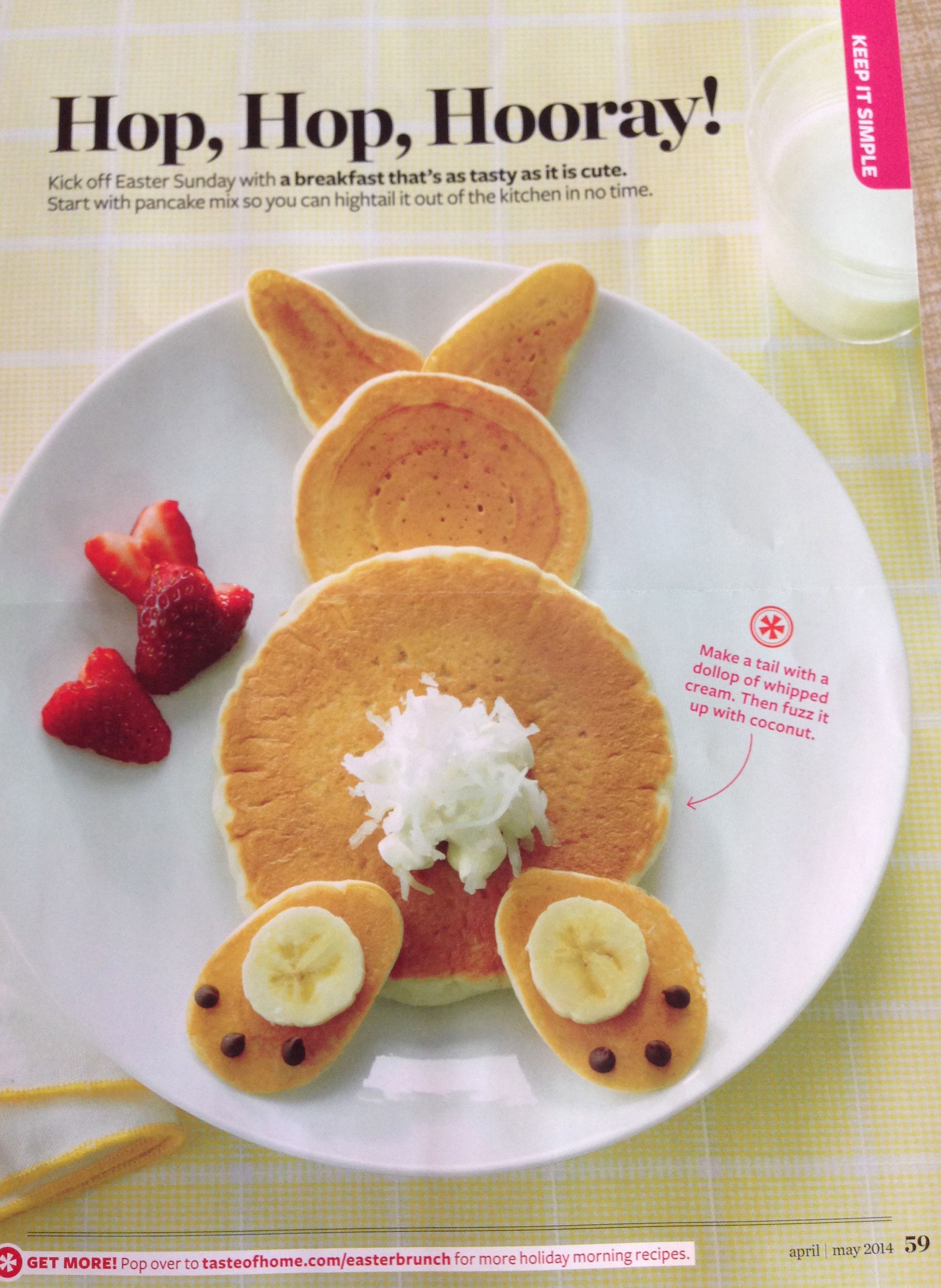 Easter pancakes (from Taste of Home Magazine)