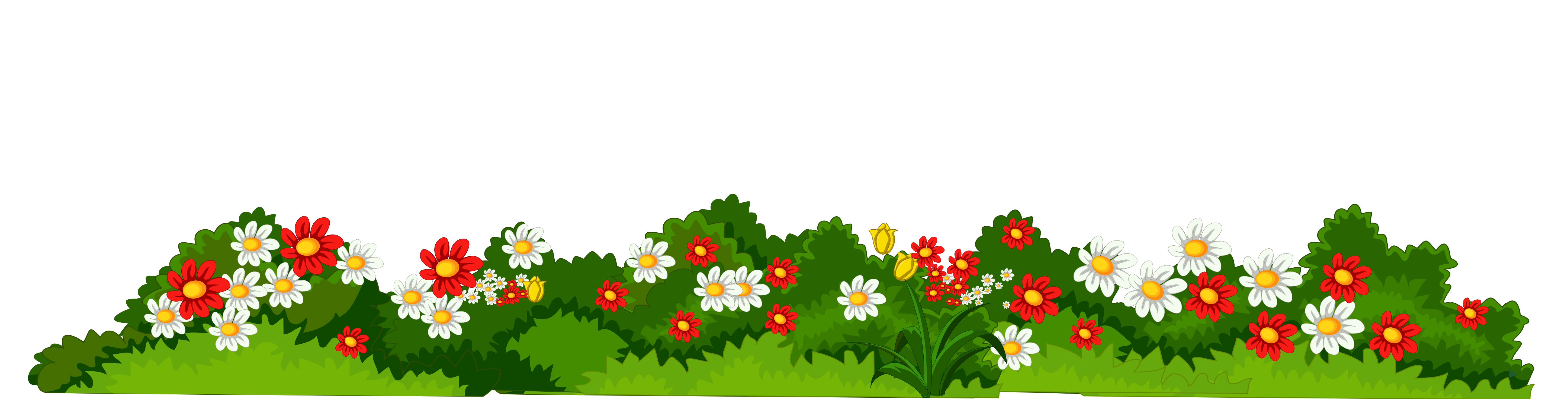 Flowers with Grass Transparent PNG Clipart Garden images