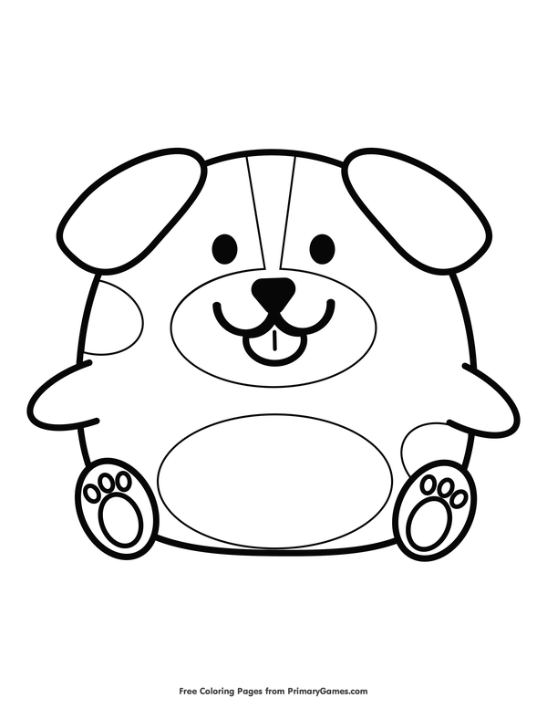 Chinese New Year Dog Colouring Pictures
