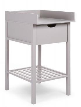 Table à langer et tiroir - Hêtre STONE GREY - kadolis.com