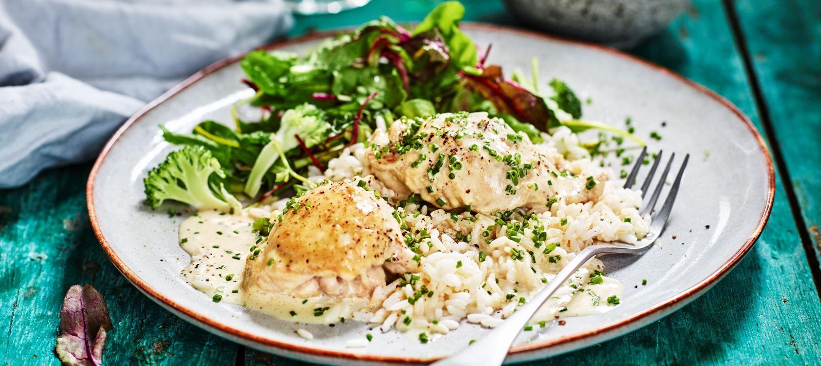 Kycklingfile Med Dijonsenap Och Graslok Recept Recept Mat Och