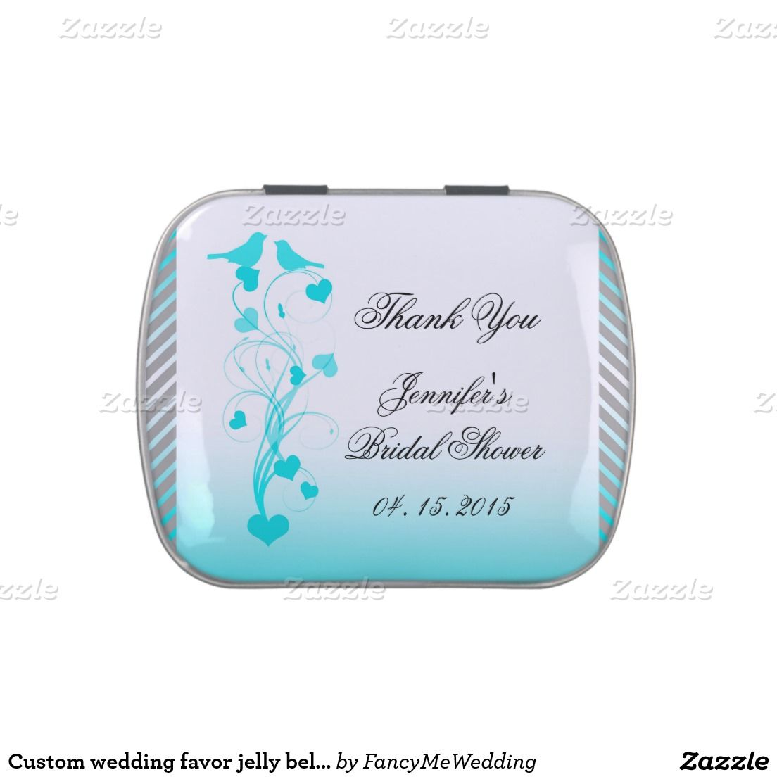 Custom wedding favor jelly belly jelly belly tin | Wedding!, Candy ...