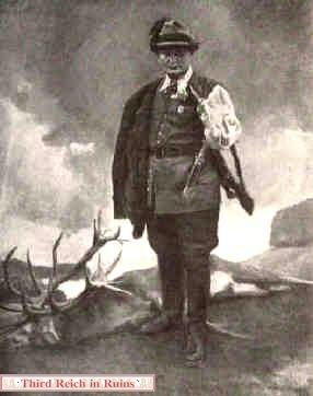 """""""Reichsjägermeister Hermann Göring"""" (Hermann Goering as Chief Huntsman) by Conrad Hommel, 1939"""