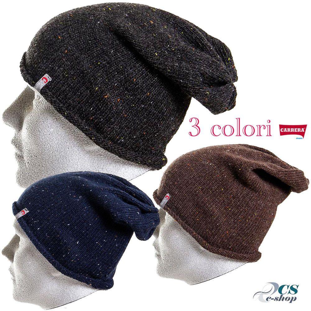 Berretto Cappello Cuffia uomo invernale acrilico taglia unica Carrera Jeans 6ecc92abe675