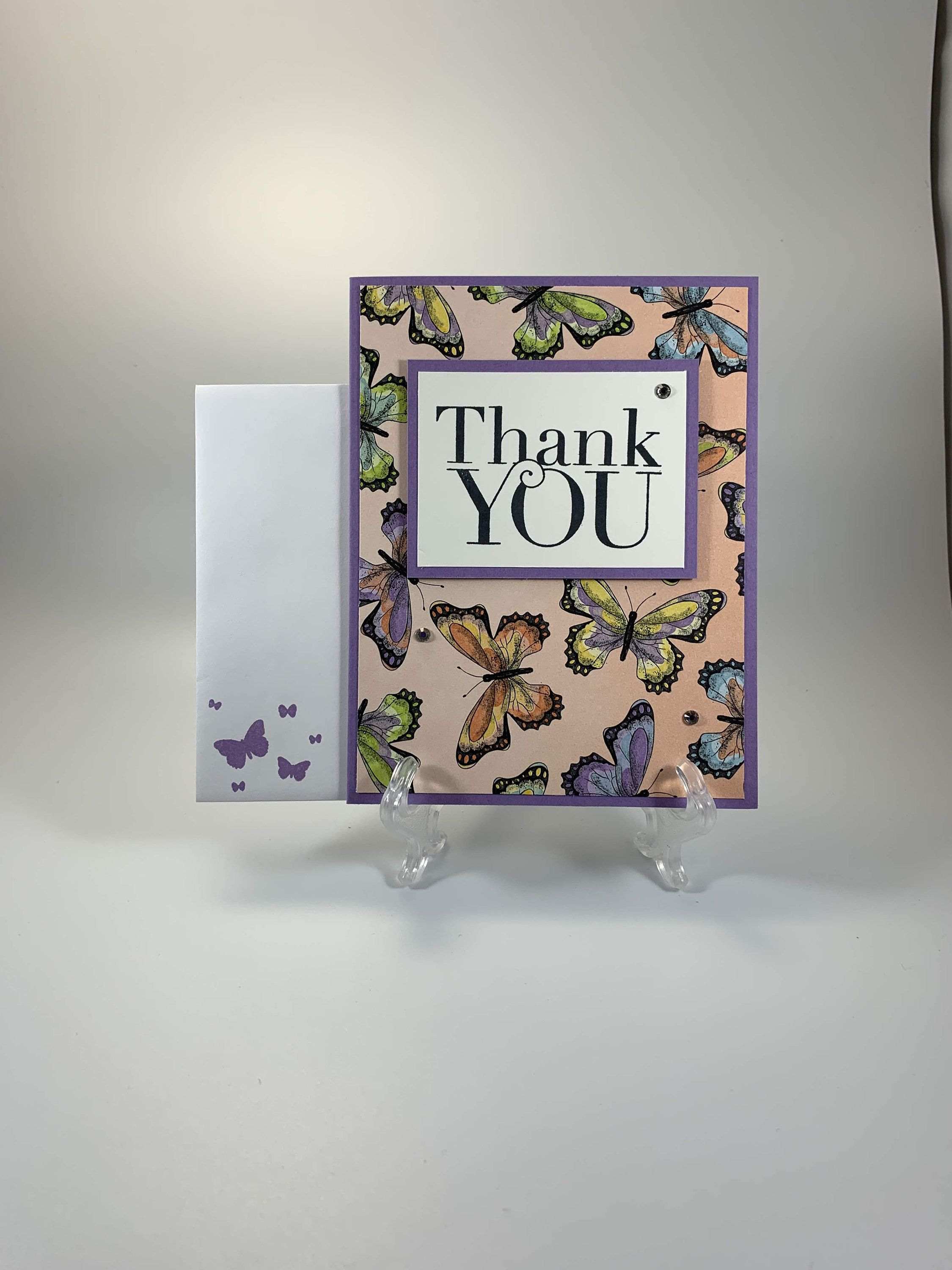 Butterfly Thank You Card Bright Thank You Card Handmade Etsy Thank You Cards Your Cards Note Cards