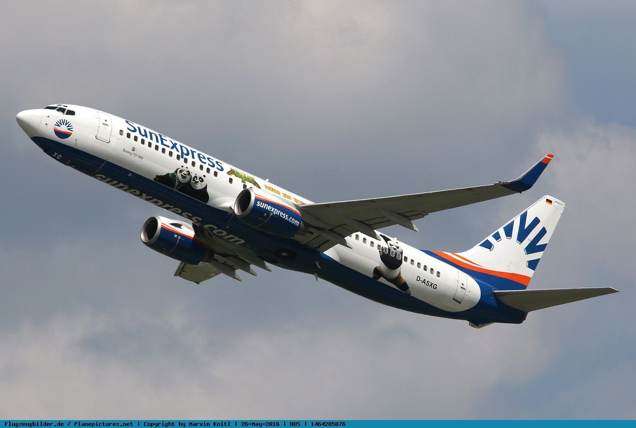 Photo SunExpress Allemagne Boeing 737-8CX D ASXG