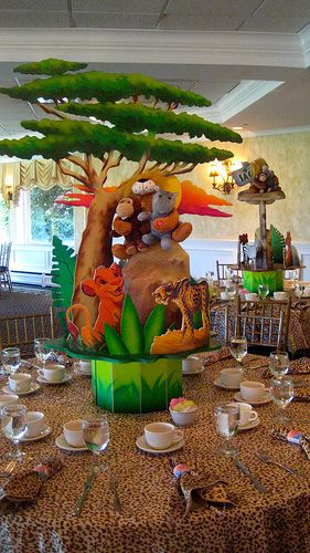 Table Centerpiece Lion King Birthday Lion King Baby