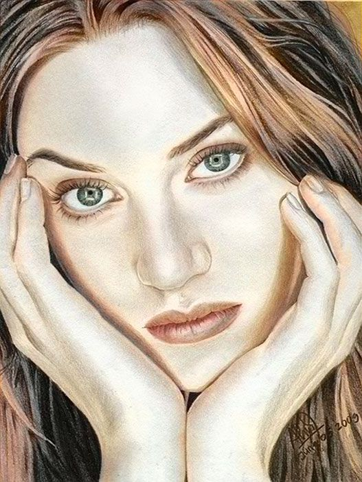 kate winslet color drawing by riefra on deviantart artist arief kurniawan