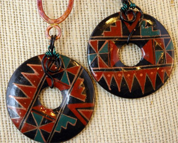 Handmade Peruvian DonutsCopper Pieces and Multi by MLRanchJewelry, $50.00