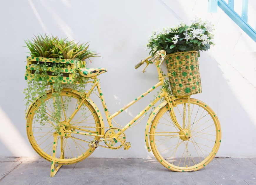 33 Bicycle Flower Planters For The Garden Or Yard Bike 400 x 300