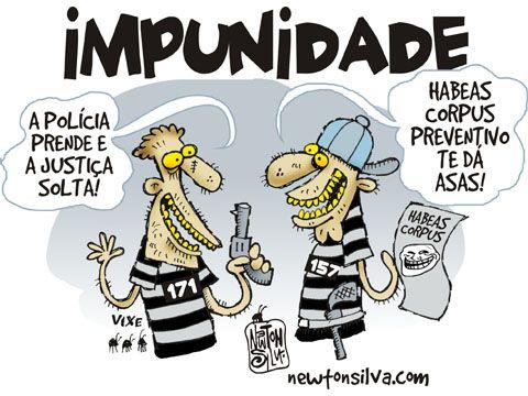 Resultado de imagem para impunidade charges
