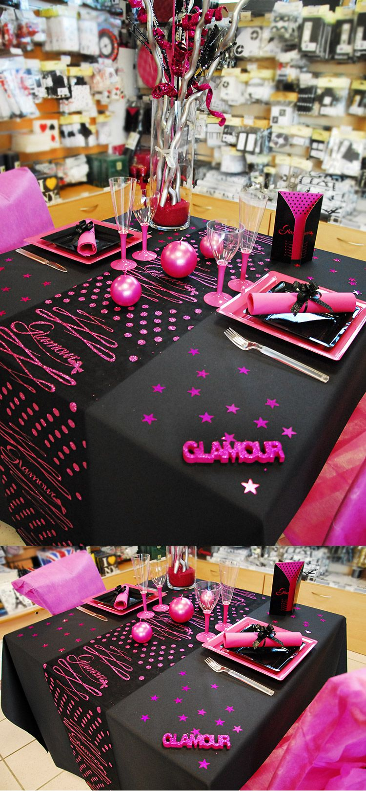 table sur le th me glamour glamour mariage deco. Black Bedroom Furniture Sets. Home Design Ideas