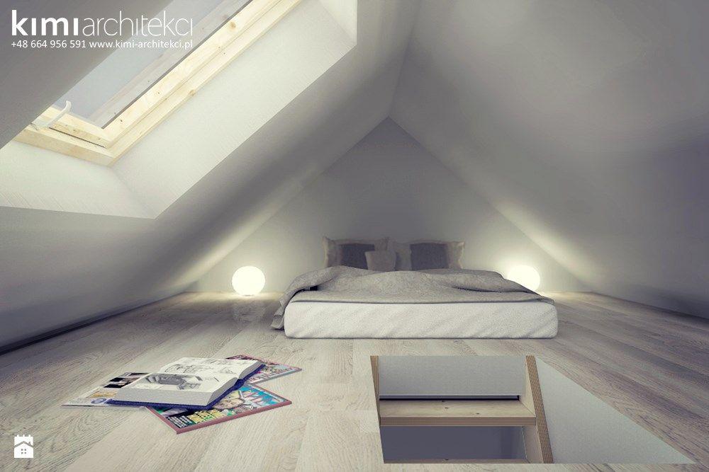 Projekt Sypialni Na Poddaszu Zdjęcie Od Kimi Architekci