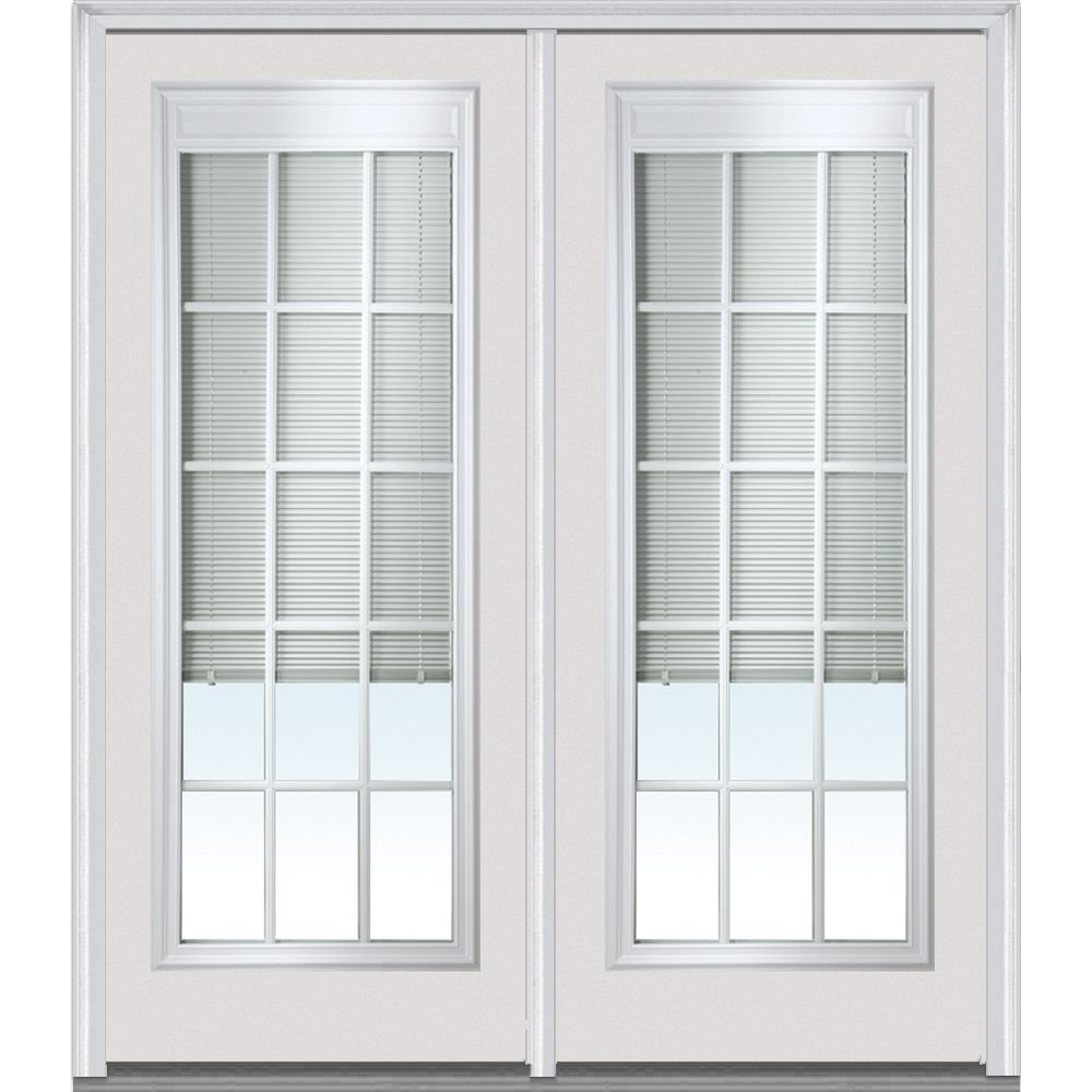 Shown Is A 15 Lite Grilles Between The Glass With Internal Blinds Patio Door  Unit.