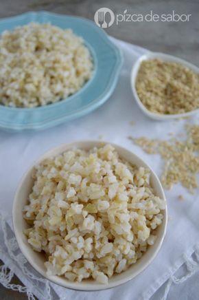 Arroz Integral Perfecto Con Los Granos Separados Receta Fácil Sencilla Recipe Food Yummy Food Recipes