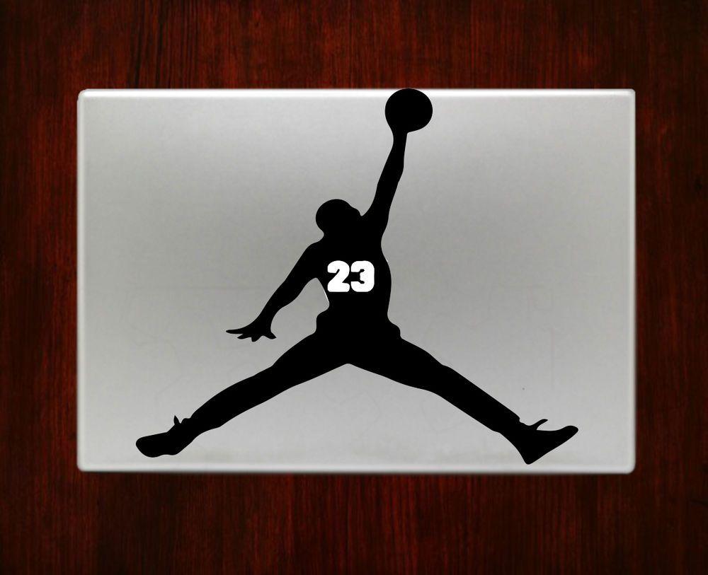 Michael Jordan 23 Basketball Decals Stickers For Macbook