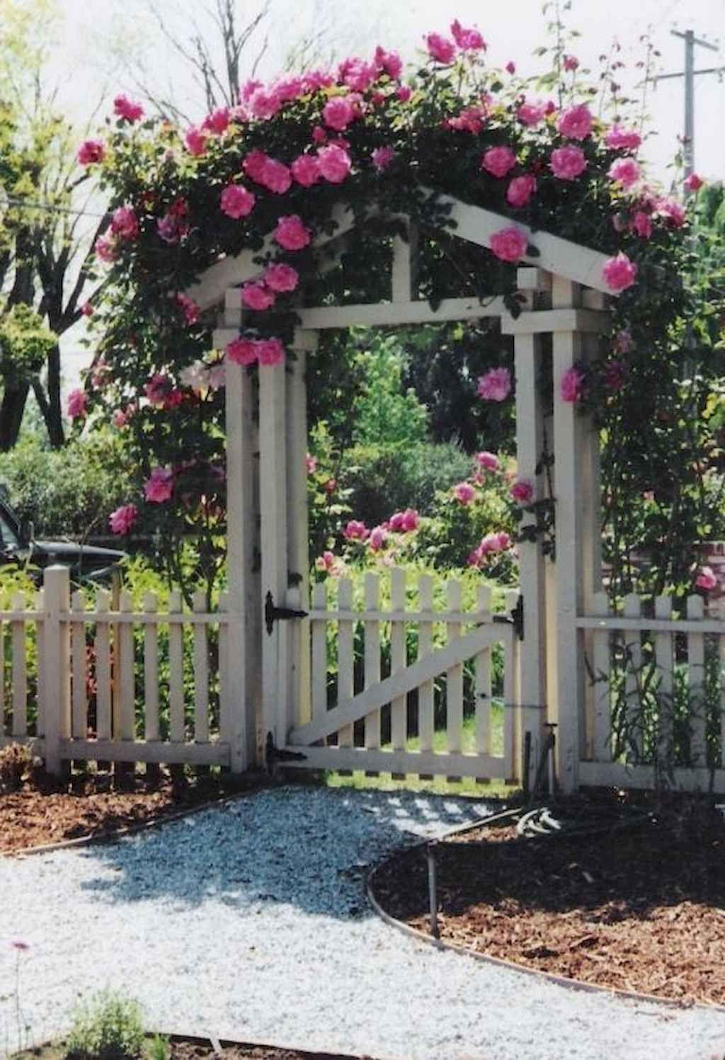 01 Stunning Cottage Garden Ideas for Front Yard Inspiration is part of Garden gate design, Diy garden fence, Garden gates and fencing, Garden entrance, Beautiful gardens, Cottage garden - 01 Stunning Cottage Garden Ideas for Front Yard Inspiration