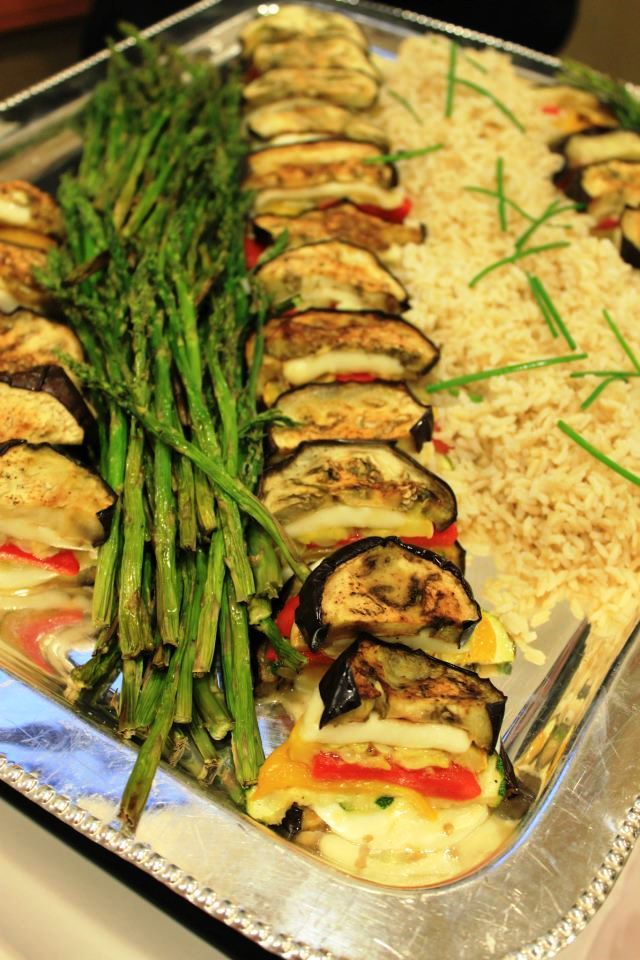 Vegetable Napoleon From Our Hot Buffet Menu Catering