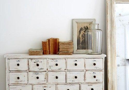 mueble de cocina blanco rustico envejecido - Buscar con Google ...