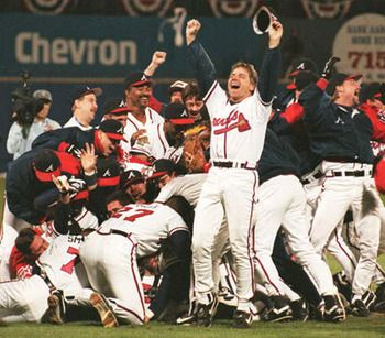 Atlanta Braves 1995 World Series Champions Atlanta Braves Atlanta Braves Baseball Atlanta Braves World Series