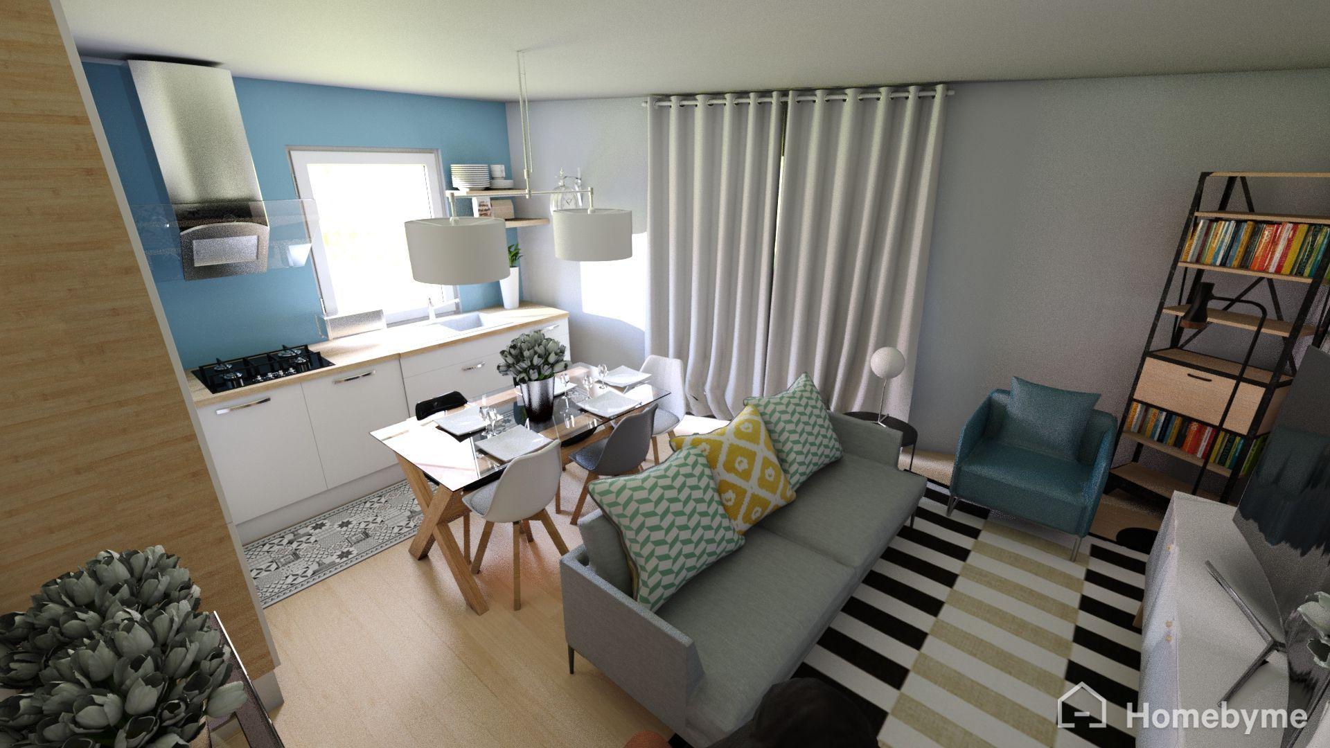 Idée d\'aménagement intérieur. Appartement de 24m2, en forme ...