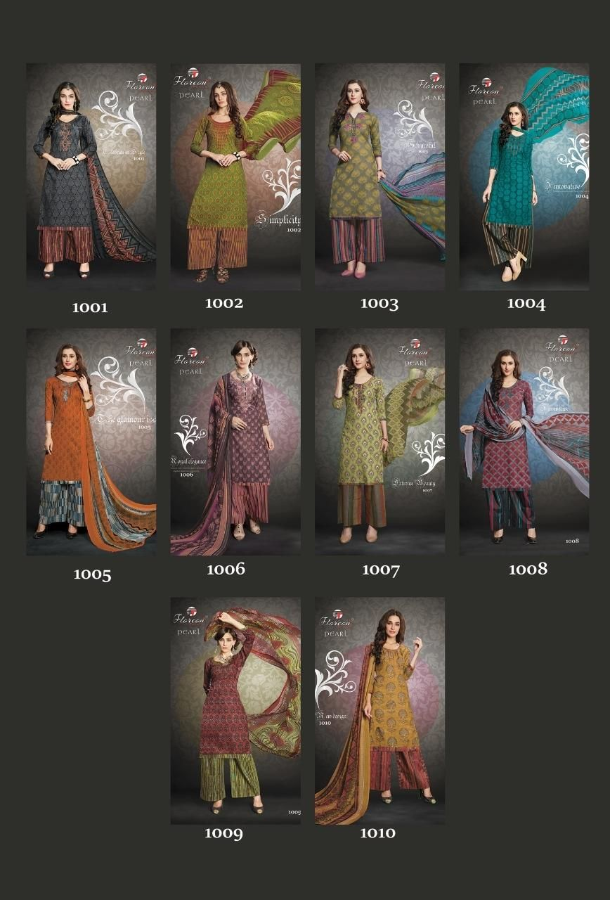 Buy Wholesale Floreon Pearl Dress Material Catalog Online at Best