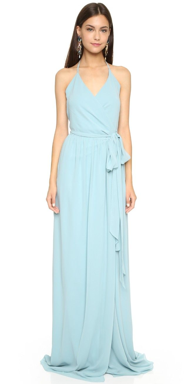DC Halter Wrap Dress | Wrap dresses and Weddings