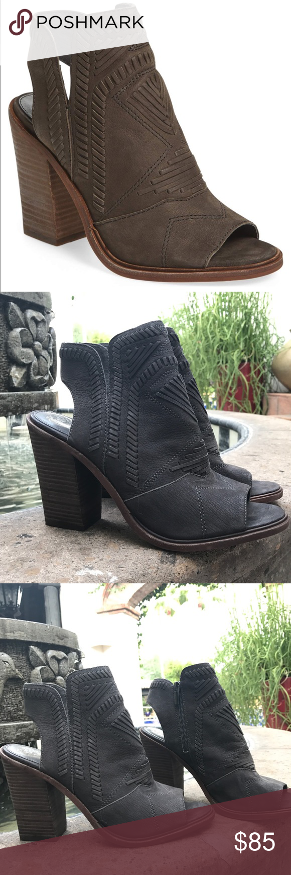 6a471b24b65 VINCE CAMUTO KARINTA PEEP TOE BOOTIE SANDAL SZ 10 Worn a couple of times.  These