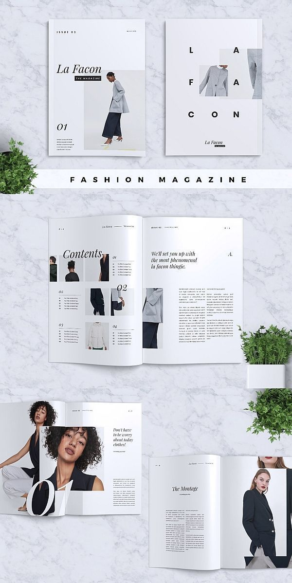 la facon fashion magazine brochure template indesign magazine