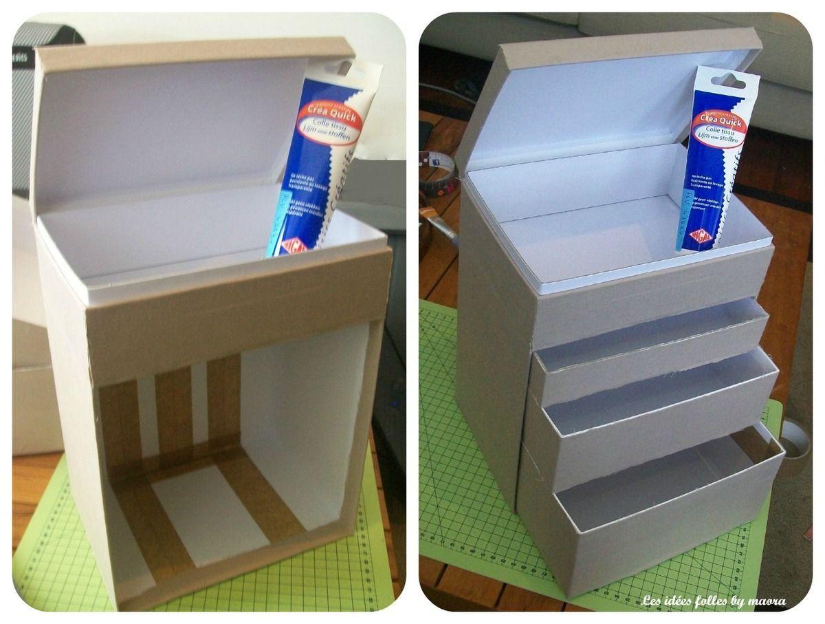 Fabriquer Boite De Rangement En Carton Avec My Little Box A Maquillage Idee Brico Pinterest Maquillage Muebles De Carton Cajas Organizadoras Cajas
