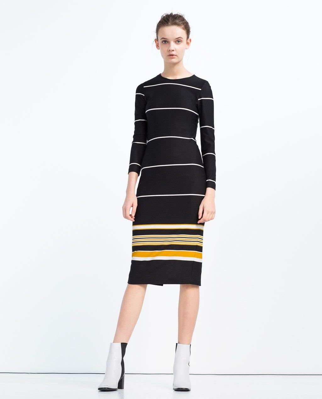 Af Billede Fashion Modetøj Vestito Kjole A Fra 1 Stribet Zara 66vxqrg5w