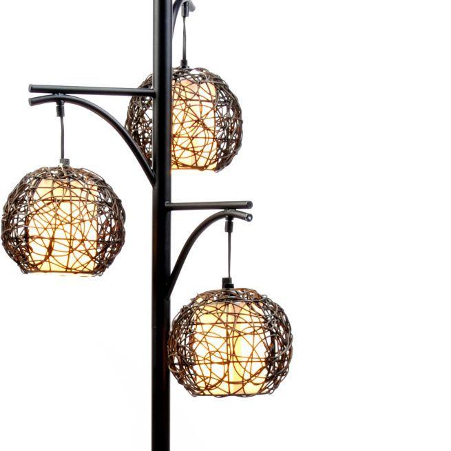Triple wicker floor lamp floor lamp condos and decorating triple wicker floor lamp aloadofball Image collections